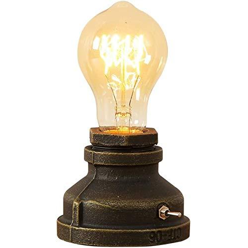 Injuicy Beleuchtung Loft Vintage Metall E27 Edison Eisen Basis Lamp (A)