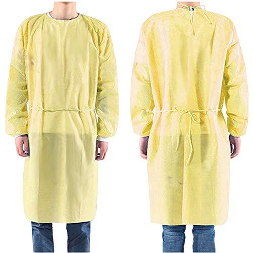 『100枚入り イエロー 使い捨て防の護の服 フリーサイズ 男女兼用』の1枚目の画像