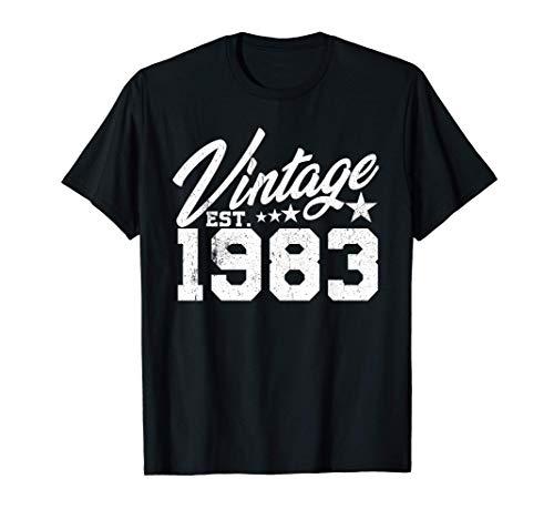 Vintage 1983 Born Birthday Gift Camiseta