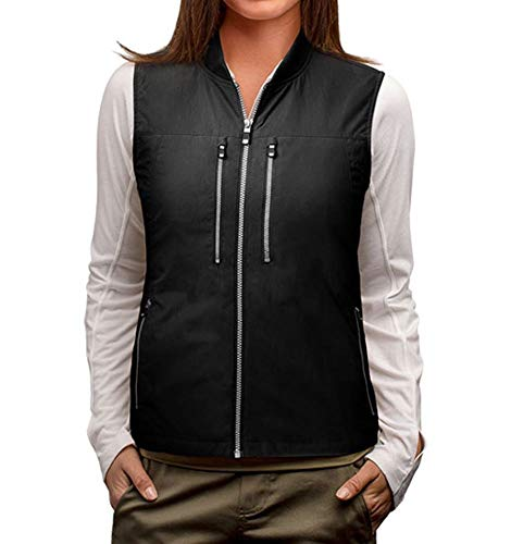 SCOTTeVEST 101 Travel Vest for Women with Pockets - Lightweight Utility Vest BLK L
