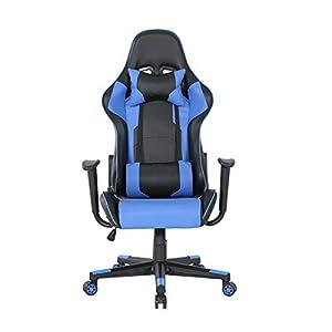 La nueva silla para videojuegos, giratoria, elevable, ángulo ajustable, con reposabrazos, Aames, oficinas, cibercafés…