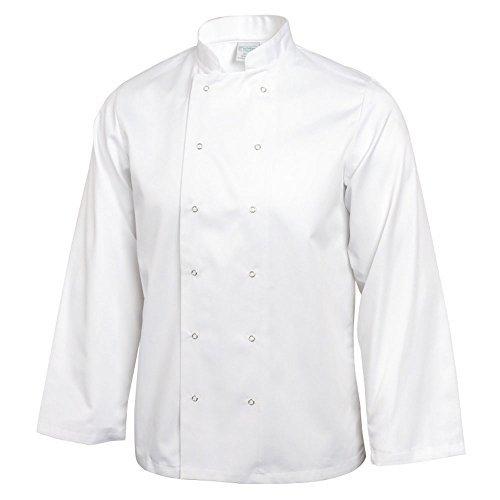 Whites Chefs Apparel a134-xs Whites Vegas Kochjacke, lange Ärmel, XS, weiß