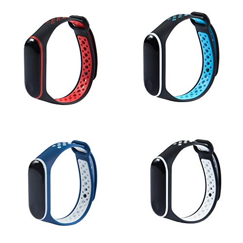 KOMI Band for Xiaomi Mi Band 3/Xiaomi 4 Band Smartwatch Wristbands Colorful Replacement Accessaries Straps for Smart Bracelet(C-4set)