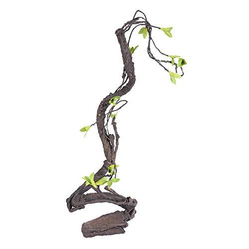 Yolispa Künstliche Rebe Kletterer Künstliche Reptilien Rebe Kletterer Dschungel Wald Biegung Zweig Terrarium Käfig Dekor