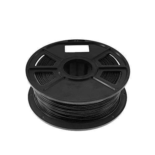 Liseng - Filamento negro 1 Kg-PLA 1,75 mm Material de Consumo en goma plástico Material Filamento 3D en fibra de carbono 3D 1,75 Filamento Impresora 3D para impresión
