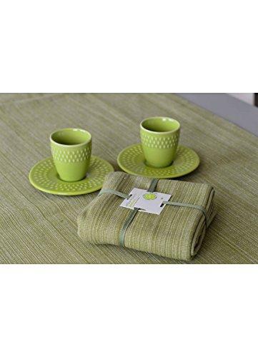 HomeMaison Lot de 4 Serviettes de Table, Coton, Vert, 40x40 cm