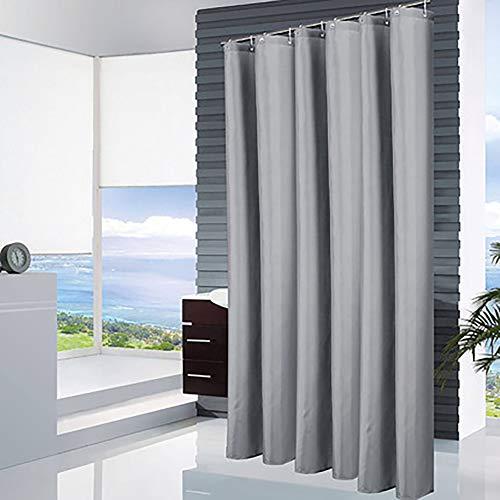 Effen kleur douchegordijn, niet-geperforeerde waterdicht en meeldauw gordijn doek, badkamer raam opknoping gordijn deur van de badkamer gordijn handen wassen partitie gordijn licht grijs 80 * 180cm,220*180cm
