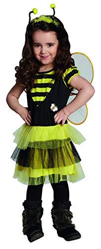 Halloween - Disfraz infantil de abeja con vestido y alas, perfecto para carnaval y Halloween, color amarillo