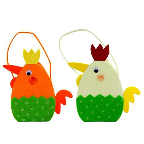 BESTOYARD Sacchetti di Caramelle Portatili di Pasqua Simpatici Sacchetti di Regalo di Pulcino di Cartone Animato per bomboniere di Cioccolato Cioccolatini (Colore Casuale)