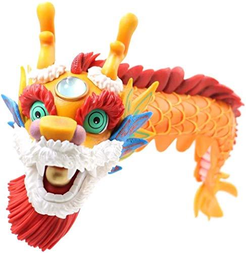 Ltong 40Cm Anime One Piece Dances The Dragons Año Nuevo. Regalo de año Nuevo de Juguete de maqueta de Personaje Lindo