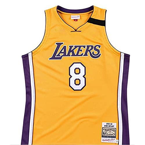 KKSY Maglie da Uomo Los Angeles Lakers # 8 1999-00 Campionato Maglie da Basket Retro Traspirante Canotta Swingman Canotta,Yellow,L