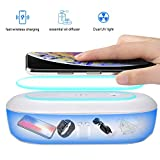 Huggler Portable UV Sterilizer   UV Phone Sanitizer with Wireless Fast Charger   Multi-Function UV Light Phone Sterilizer with Aroma Diffuser   Kills Up to 99.9% of Bacteria & Germs