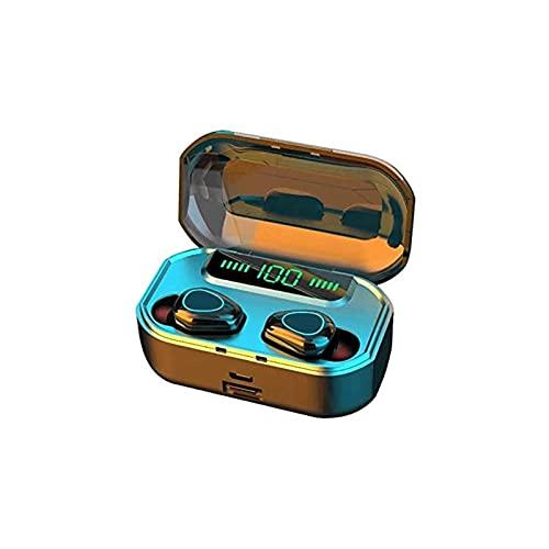 WGLL Auriculares inalámbricos Bluetooth con Caja de Carga inalámbrica Auriculares estéreo a Prueba de Agua en el oído incorporados en el Sonido Premium de Auriculares de micrófono con Bajos Profundos