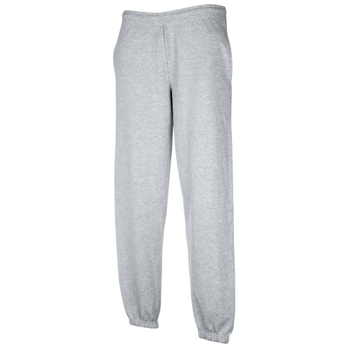 Classic Elasticated Cuff Jog Pants Kids - Farbe: Heather Grey - Größe: 152 (12-13)