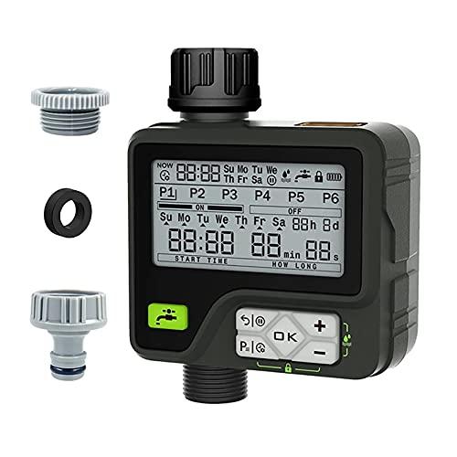 Temporizador de agua programable con pantalla LCD grande, sistema de riego automático de 3ª generación, temporizador de riego para manguera con sensor de lluvia