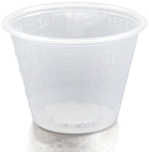 A World Of Deals 1 oz. Non-Sterile Graduated Plastic Medicine Cups, 100 Piece