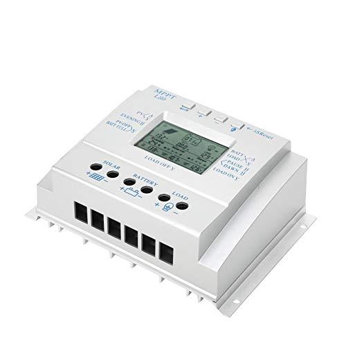Hui Ni 80A PWM Contrôleur de charge solaire 12 24 V Auto Panneau Solaire Régulateur de Charge avec Minuteur de Charge avec Affichage LCD MPPT Contrôle de Charge