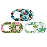 SOLUSTRE 3pcs Webcam Cover Slide Flower Design Plastic Web Camera Cover For Laptop PC Pad Phone (Style 2)