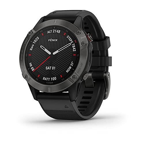 Garmin - Reloj GPS con Pulsómetro Fenix 6 Zafiro, Negro, L (010-02158-11)