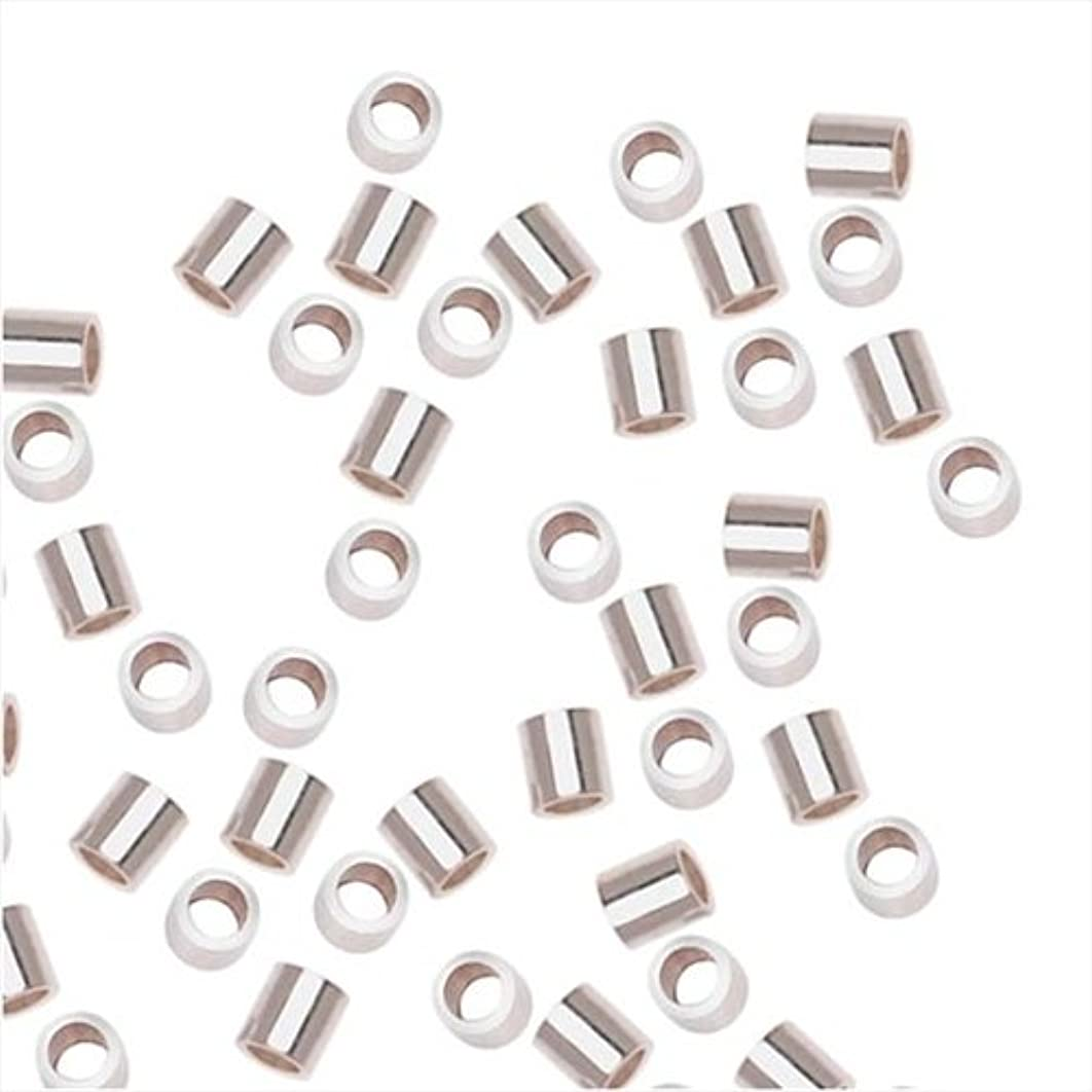 Beadaholique SS/3011/2X2 20-Piece Sterling Crimp Beads, 2 by 2mm, Silver