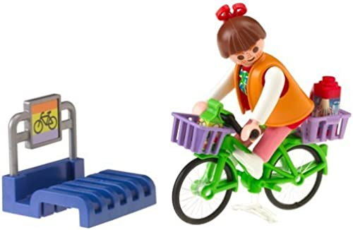 Playmobil Bike Stand with Shopper by PLAYMOBIL