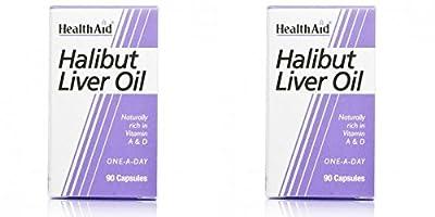 (2 Pack) - HealthAid - Halibut Liver Oil | 90's | 2 PACK BUNDLE by HealthAid