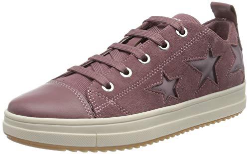 Geox Mädchen J Rebecca Girl F Sneaker, Pink (Rose Smoke C8025), 36 EU