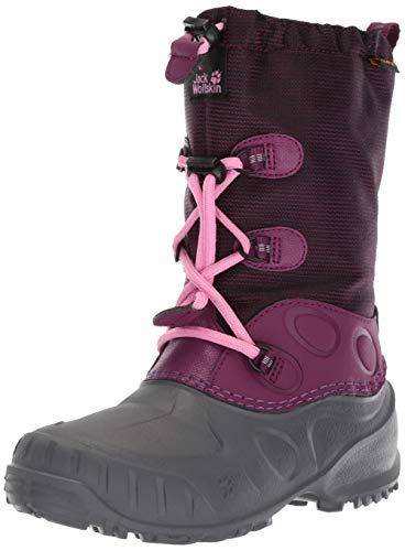 Jack Wolfskin Dziecięce buty zimowe Iceland Texapore High K, czerwony - Czerwony Dark Orchid 2125-26 EU
