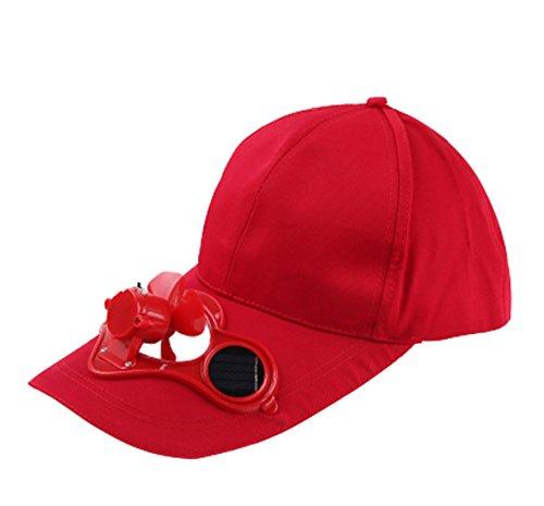 Zonne-energie riem opladen opslag riem schakelaar Fan Cap zon hoed gepiekte Cap