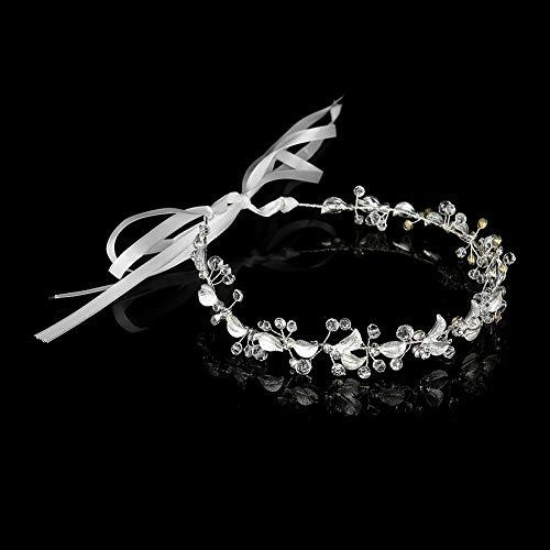 Accesorios para el cabello de dama de honor Diadema de corona nupcial, Diadema para el cabello de boda, Elegante para mujer para fiesta nupcial Boda
