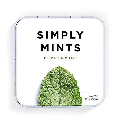 Simply Mints | Natural Peppermint Breath Mints | Pack of Six (270 Pieces Total) | Breath Freshening, Vegan, Non Gmo, Nothing Artificial, great gift for pregnant friend with morning sickness, item to add to morning sickness care package