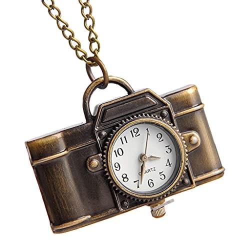 WWXL Reloj de Bolsillo de Bronce para Hombre Star Trek, Reloj de Bolsillo de Cuarzo, Relojes Crearive para niño