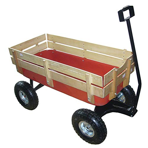 For Sale! Valley Industries Big Foot Pull Behind Wagon with All Terrain Tires and Wood Side Panels