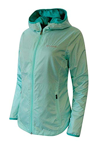 Columbia Womens Queen Pass Spring Full Zip Hooded Plush Lined Jacket (M, Oceanic)
