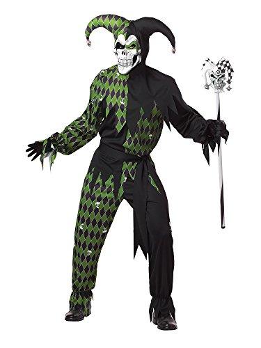 California Costumes - Disfraz De Bufn Malvado/Joker Verde Negro Vestido Para Hombre Talla M