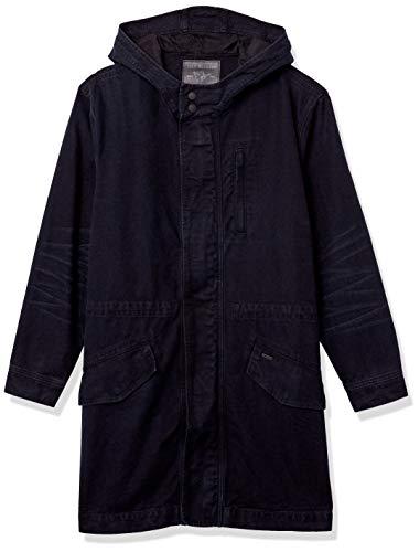 True Religion Herren Denim Hooded Anorak Jacket Jeansjacke, blau, Large