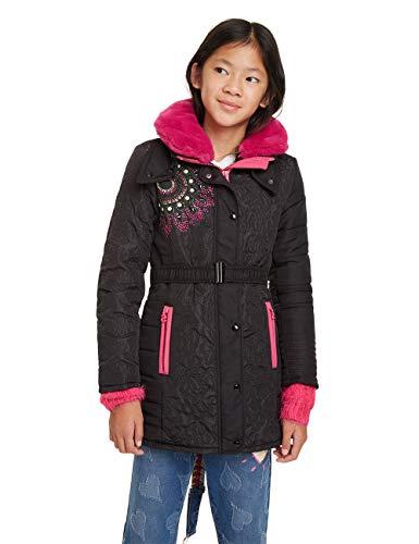 Desigual Mädchen Coat ASAÍ Mantel, Schwarz (Negro 2000), 152 (Herstellergröße: 11/12)