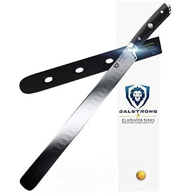 DALSTRONG Slicing Carving Knife - 12  Granton Edge - Gladiator Series - German HC Steel - w/Sheath