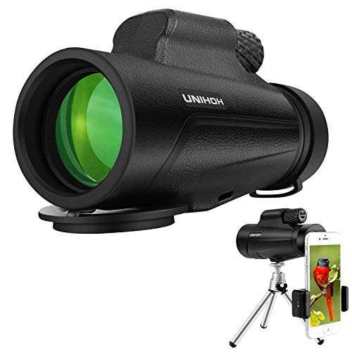 12X50 High Power Monocular HD Dual Focus Scope, Waterproof Compact Monocular with Smartphone Tripod and Mount Adapter, BAK4 Multi-Coated Zoom Lens for Hunting Bird Watching Camping