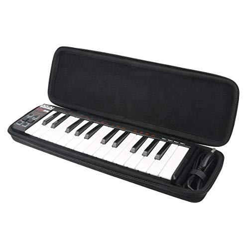 Para Akai Pro LPK25 - Teclado controlador USB MIDI de 25 EVA Duro Viaje Estuche Bolso Funda by Khanka