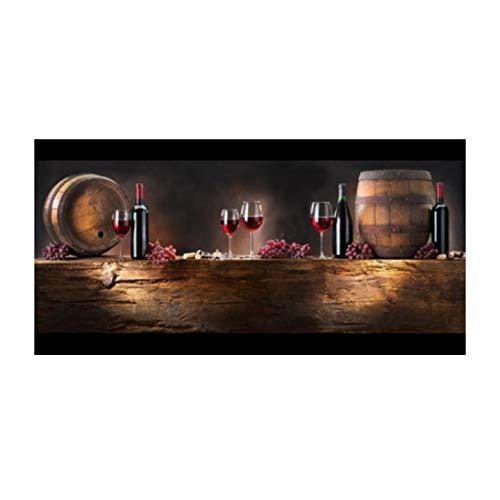 Impresión en lienzo dormitorio sala de estar decoración de la cabecera pintura botella de vino tinto decoración de la sala de estar pintura lienzo pintura 40x80 cm sin marco