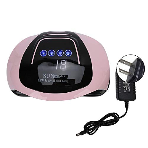 Lampe UV de dessiccateur 96W, machine de dessiccateur de vernis à ongles de gel de LED, machine de traitement des ongles d'induction intelligente infrarouge avec la minuterie 30/60/90 / 120S(US Plug)