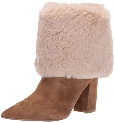 NINE WEST Women's Slouchy Fashion Boot, Dark Natural, 11