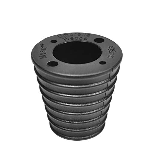 Myard MP UW35H4 Umbrella Cone Wedge Spacer for Patio Table Hole Opening or Base 1.8 to 2.4 Inches, Umbrella Pole Diameter 1 3/8' (35mm, Black)