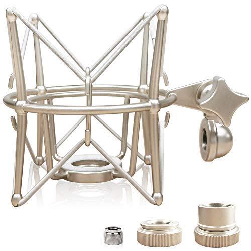 Soporte de micrófono de montaje de choque - Anti vibración Metal Spider shockmount compatible con neumann u47 u67 u87..