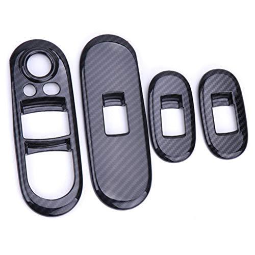 Ventanilla Coche Control Interruptor Elevador Cober Case Shell Pegatinas Fibra Carbono para Mini para Cooper S JCW F55 F56 Hatchback Accesorios Coche (Color : For F55)