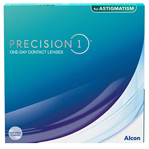 PRECISION1 Lentillas tóricas diarias, Pack de 90, R 8.5 mm, D 14.5 mm, cilindro -1.25, eje 170, -1.00 Diopt