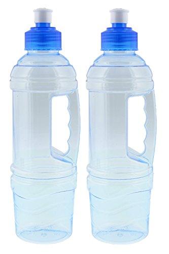 Arrow Plastic 22-Ounce Clear BPA-Free Water Bottle Junior Traveler Leak Proof - 2 Count