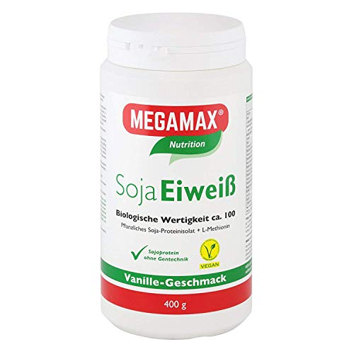 MEGAMAX Soja Eiweiß Pulver Vanille-Geschmack, 400 g Poeder