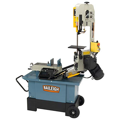 Baileigh BS-712MS Horizontal and Vertical Band Saw, 1-Phase 110/220V, 1hp Motor